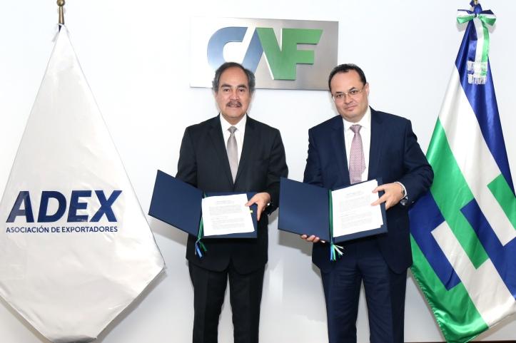 Juan Varilias ADEX y Luis Carranza CAF